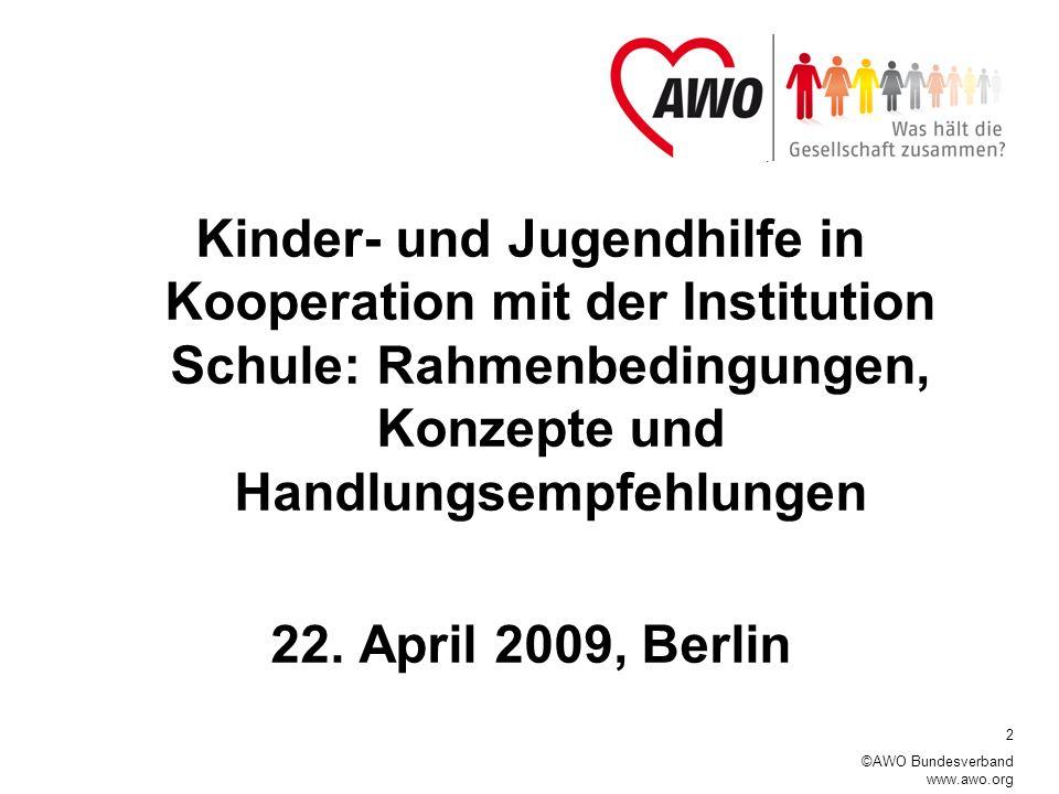 Kinder- und Jugendhilfe in Kooperation mit der Institution Schule: Rahmenbedingungen, Konzepte und Handlungsempfehlungen