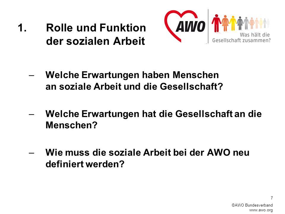 1. Rolle und Funktion der sozialen Arbeit