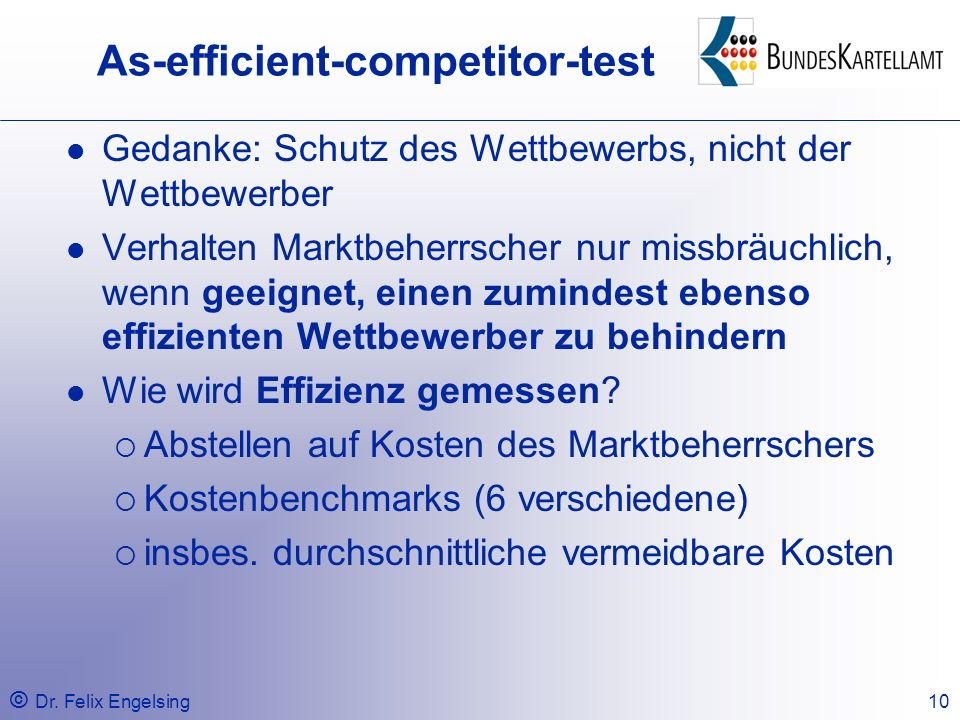 As-efficient-competitor-test