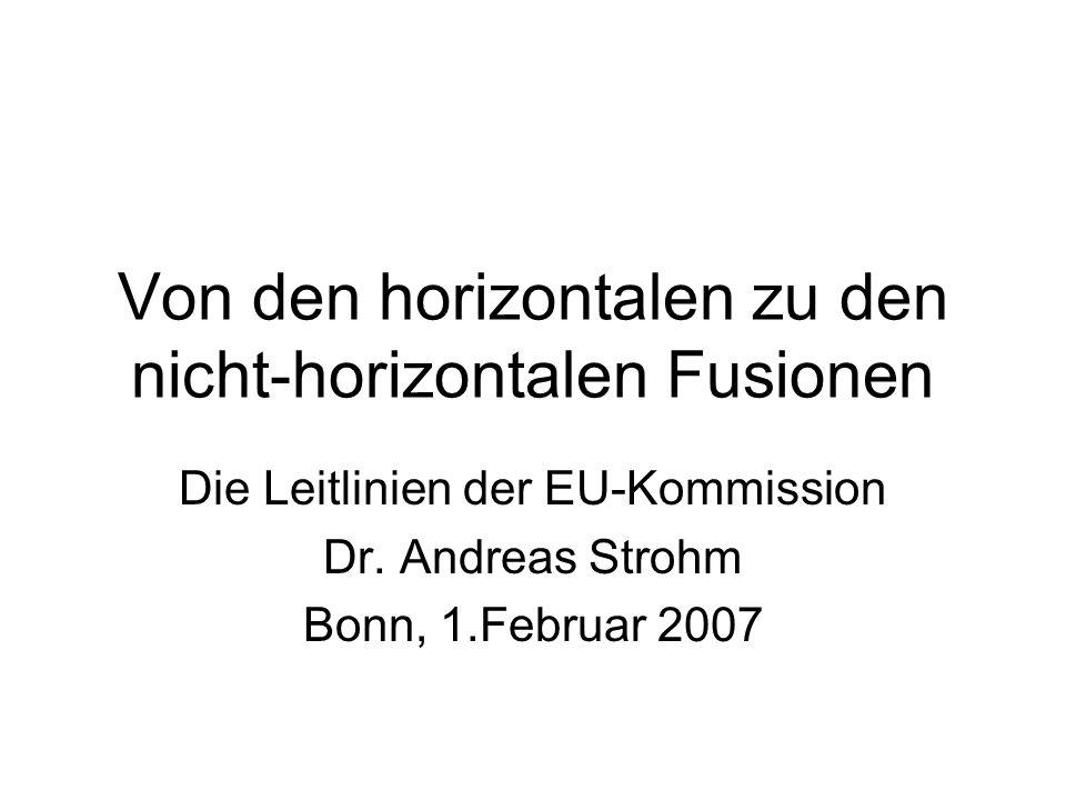 Von den horizontalen zu den nicht-horizontalen Fusionen