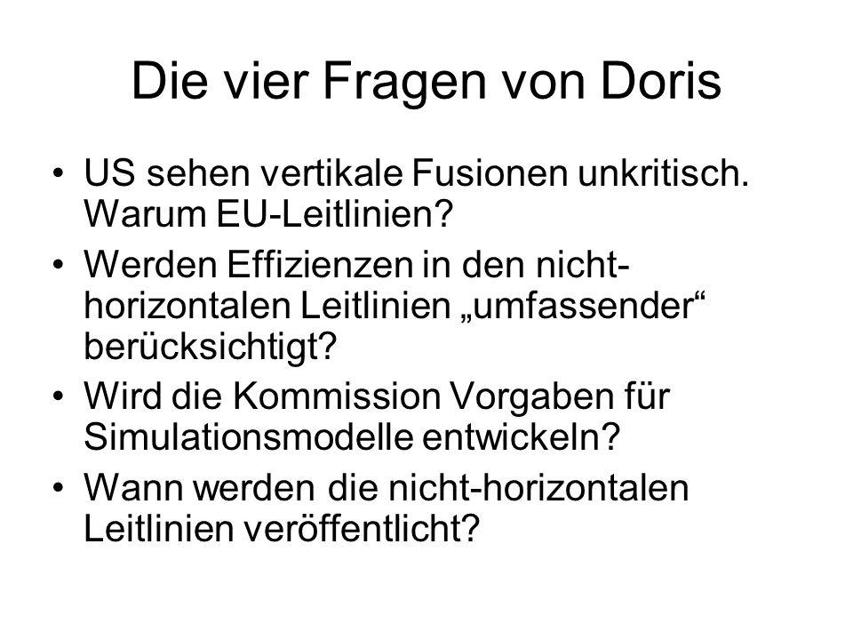 Die vier Fragen von Doris