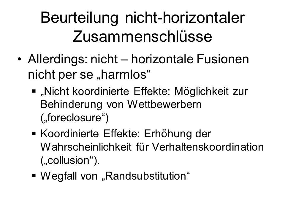 Beurteilung nicht-horizontaler Zusammenschlüsse