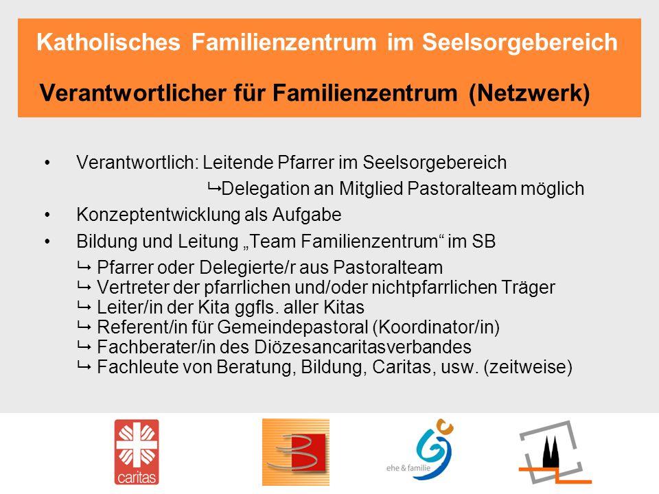 Katholisches Familienzentrum im Seelsorgebereich Verantwortlicher für Familienzentrum (Netzwerk)