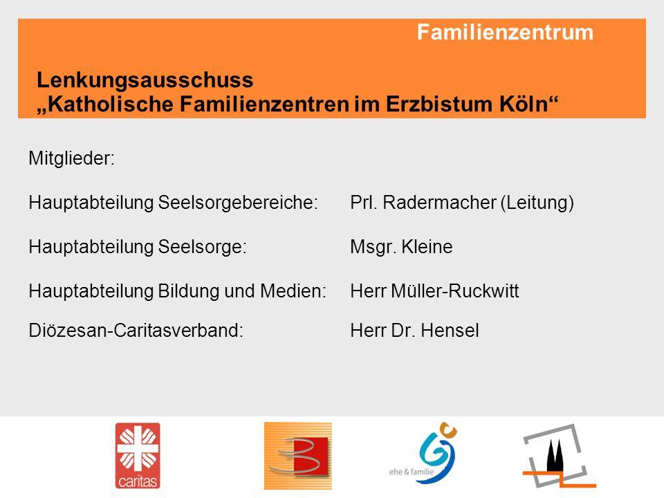 """Familienzentrum Lenkungsausschuss """"Katholische Familienzentren im Erzbistum Köln"""