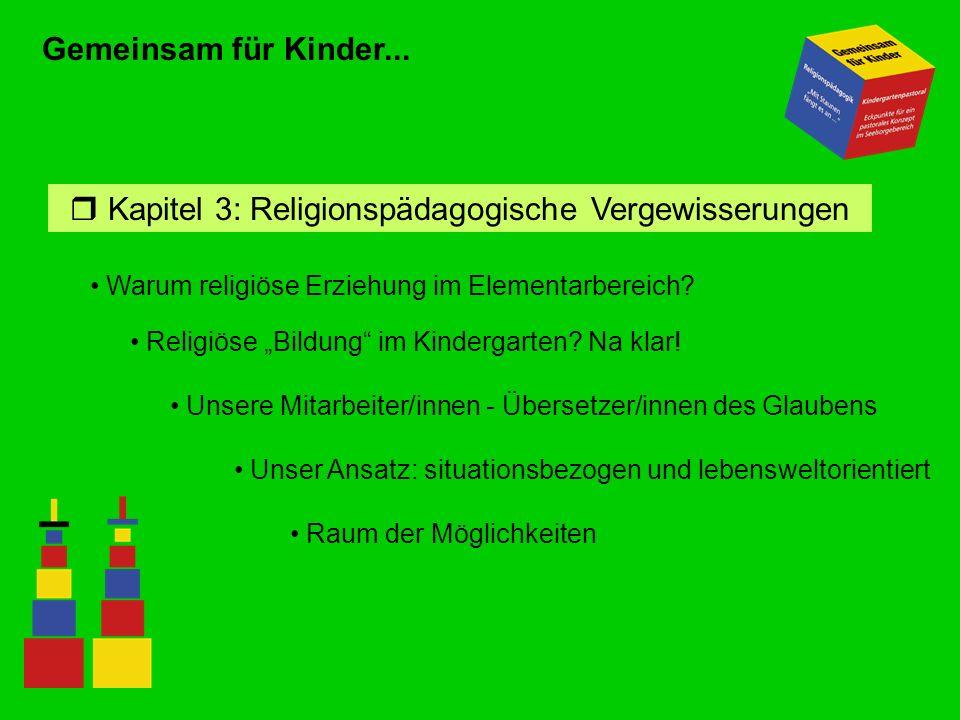 Kapitel 3: Religionspädagogische Vergewisserungen