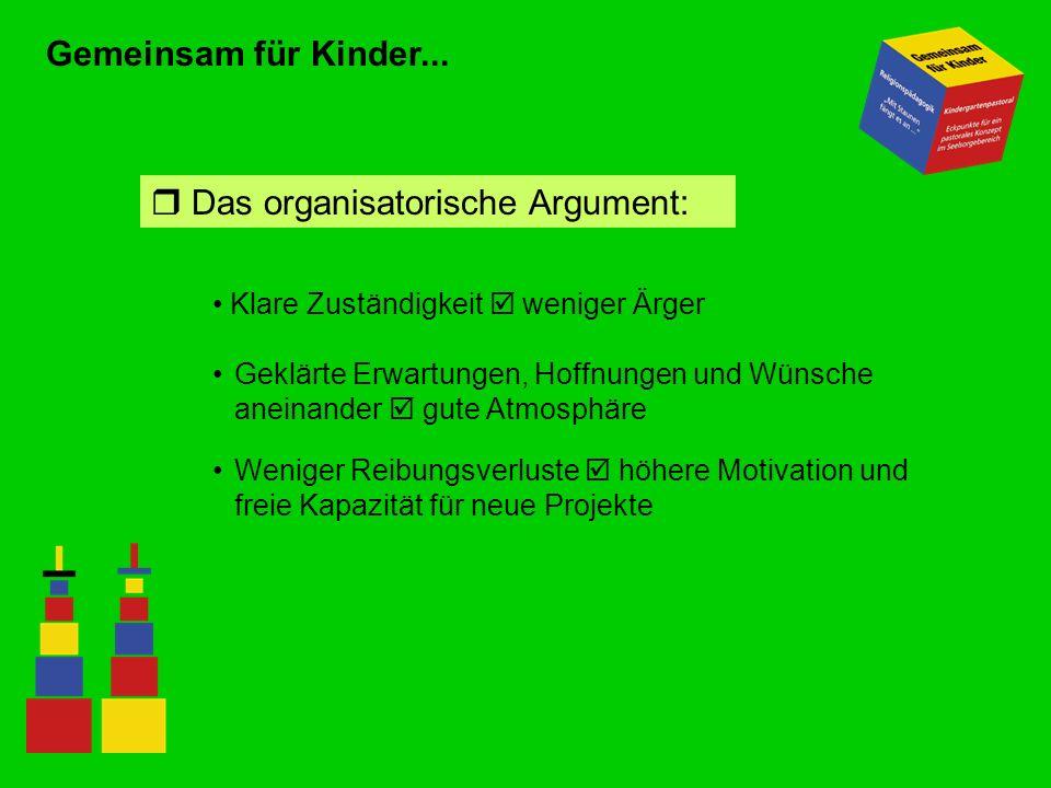  Das organisatorische Argument: