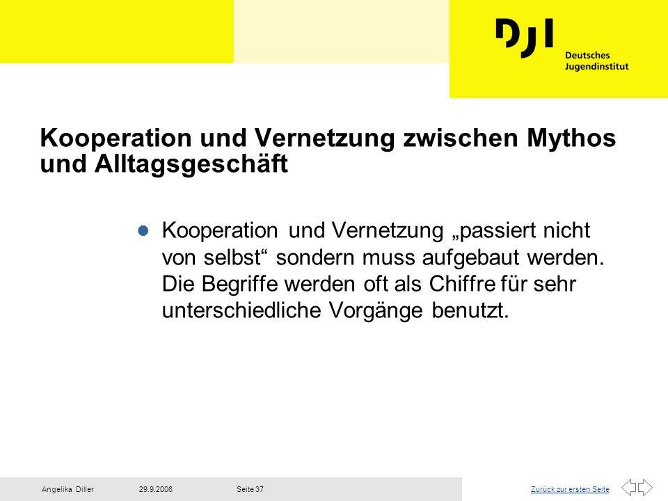 Kooperation und Vernetzung zwischen Mythos und Alltagsgeschäft