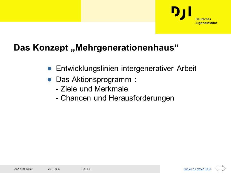 """Das Konzept """"Mehrgenerationenhaus"""
