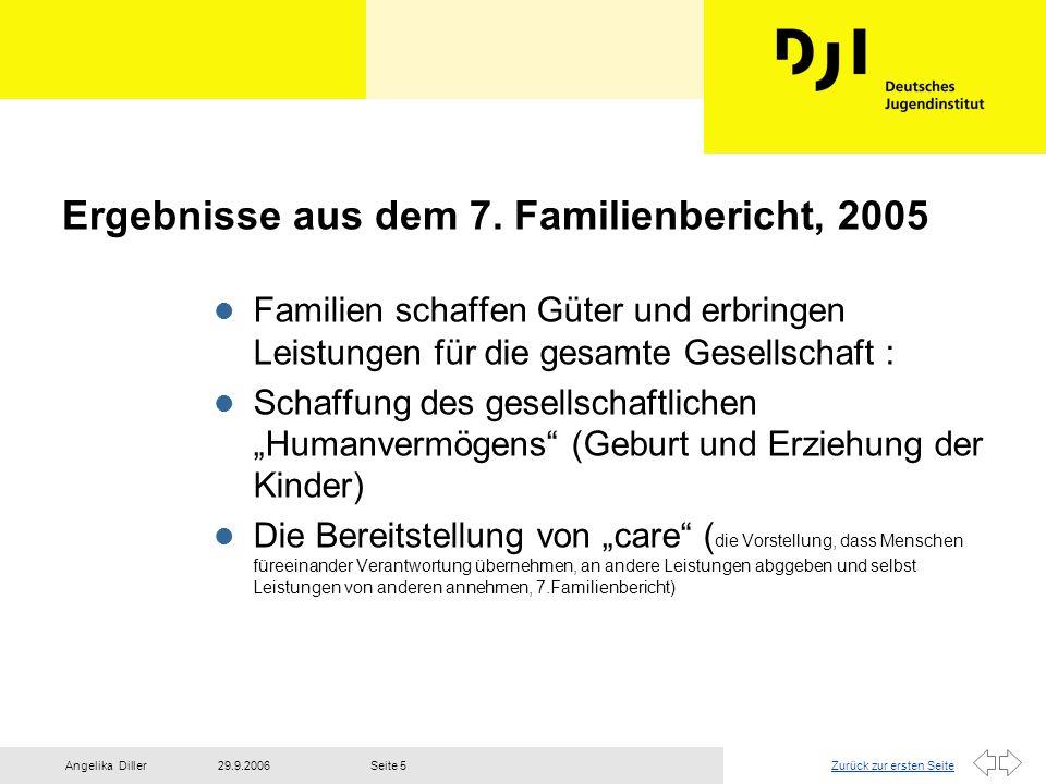 Ergebnisse aus dem 7. Familienbericht, 2005