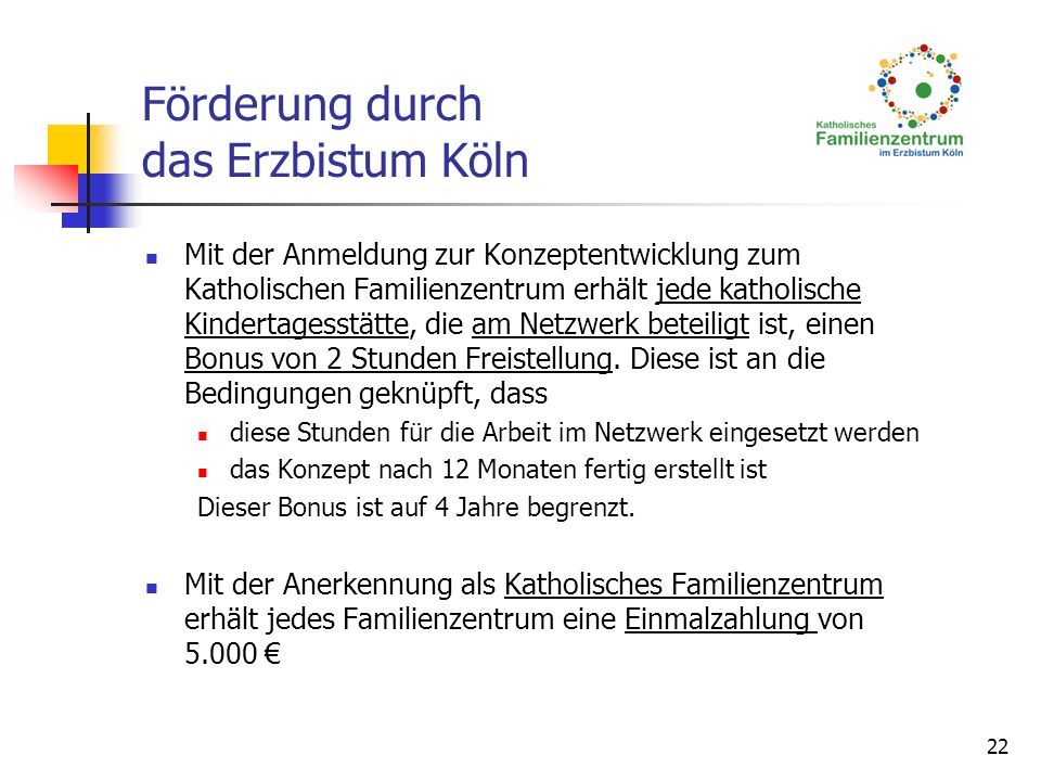 Förderung durch das Erzbistum Köln