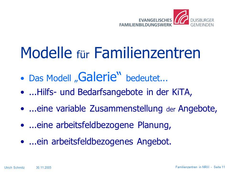 Modelle für Familienzentren