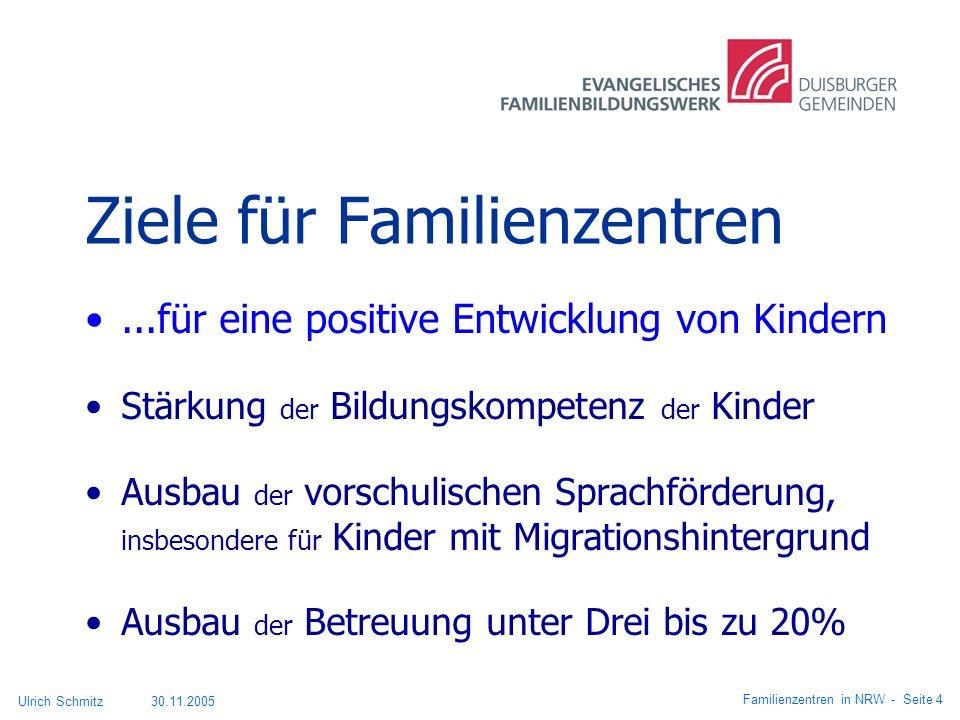 Ziele für Familienzentren