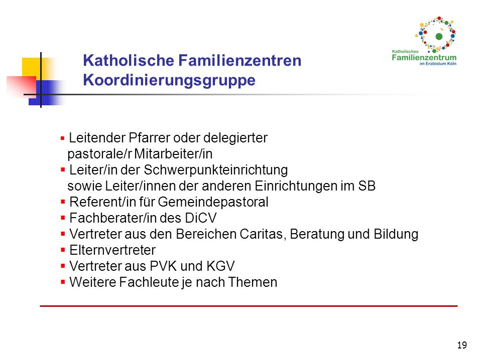 Katholische Familienzentren Koordinierungsgruppe