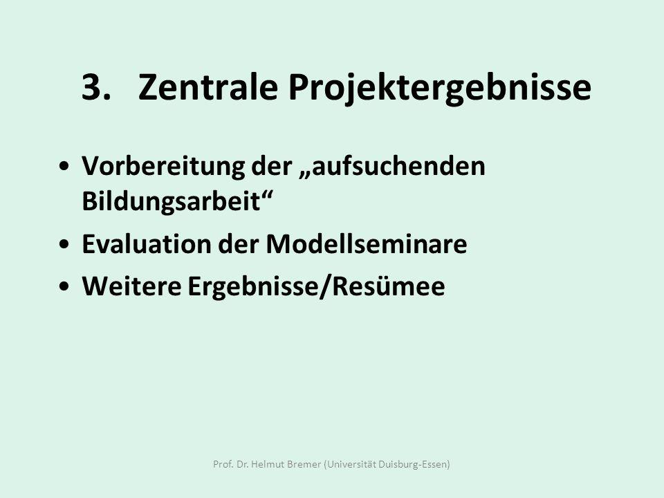 3. Zentrale Projektergebnisse