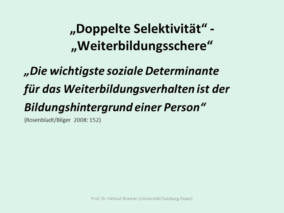 """""""Doppelte Selektivität - """"Weiterbildungsschere"""