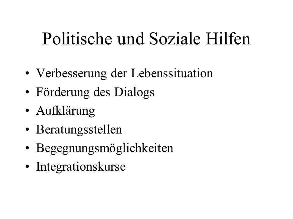 Politische und Soziale Hilfen
