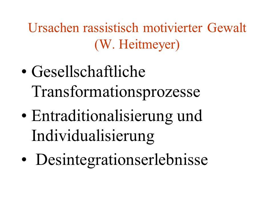Ursachen rassistisch motivierter Gewalt (W. Heitmeyer)