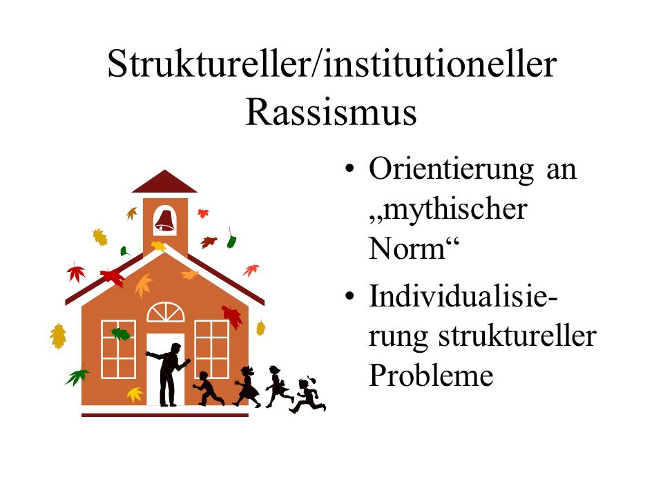 Struktureller/institutioneller Rassismus