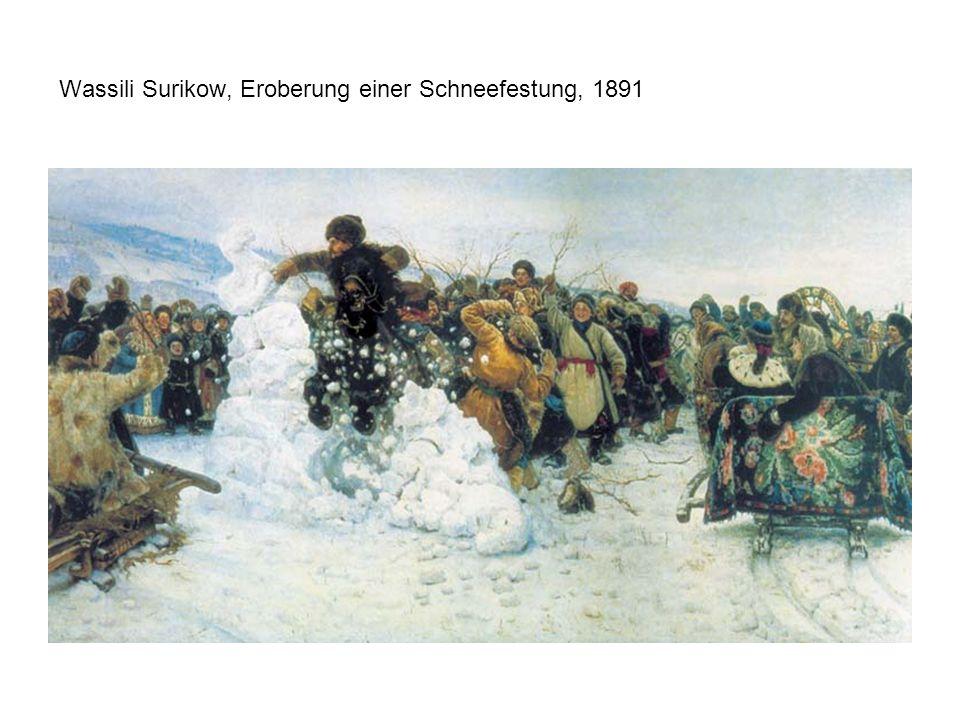Wassili Surikow, Eroberung einer Schneefestung, 1891
