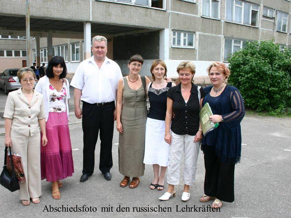 Abschiedsfoto mit den russischen Lehrkräften