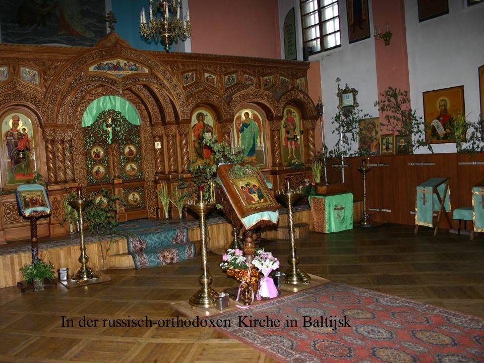 In der russisch-orthodoxen Kirche in Baltijsk