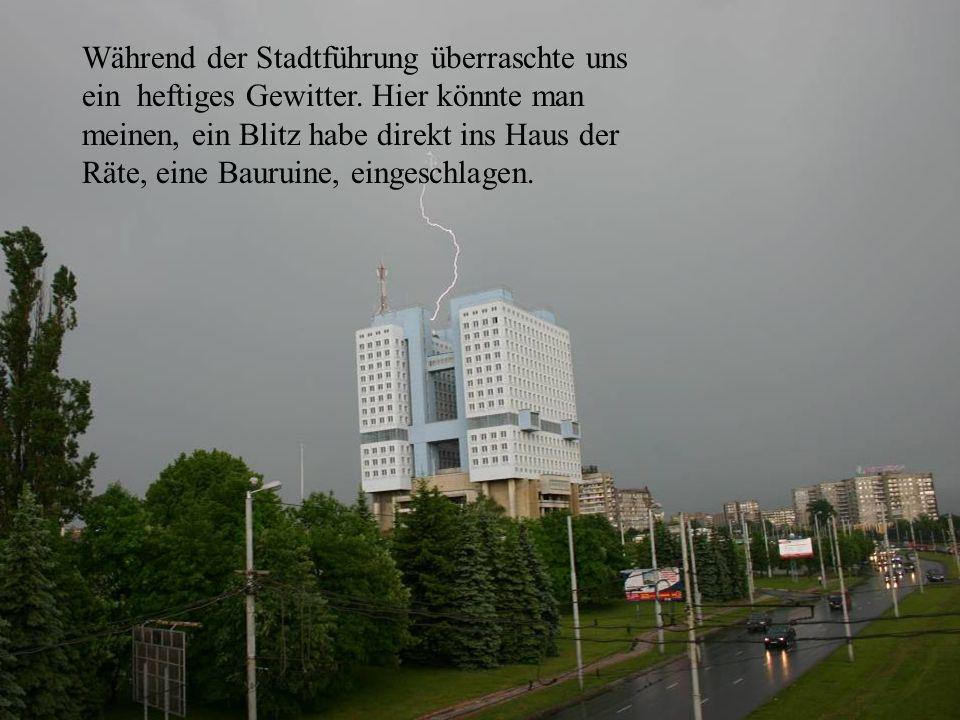 Während der Stadtführung überraschte uns ein heftiges Gewitter