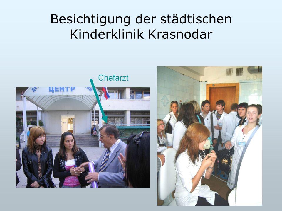 Besichtigung der städtischen Kinderklinik Krasnodar