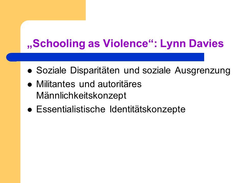 """Schooling as Violence : Lynn Davies"