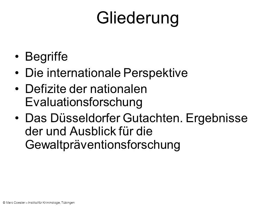 Gliederung Begriffe Die internationale Perspektive