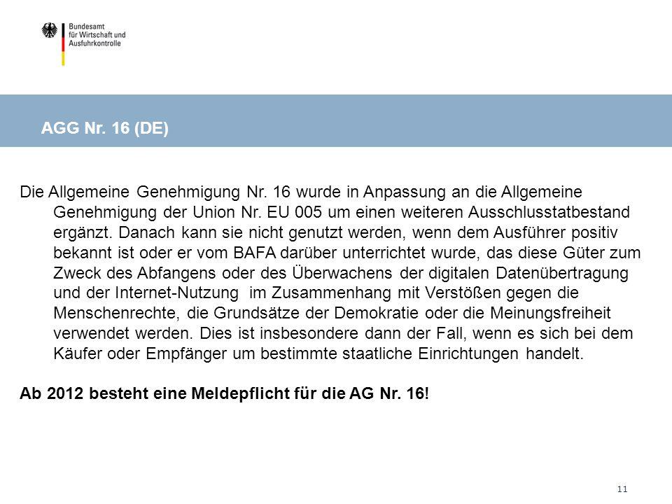 AGG Nr. 16 (DE)