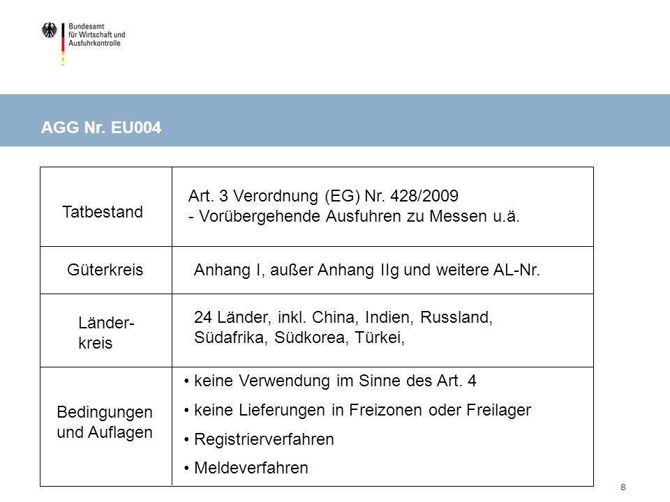 EU004: Ausstellungen / Messen