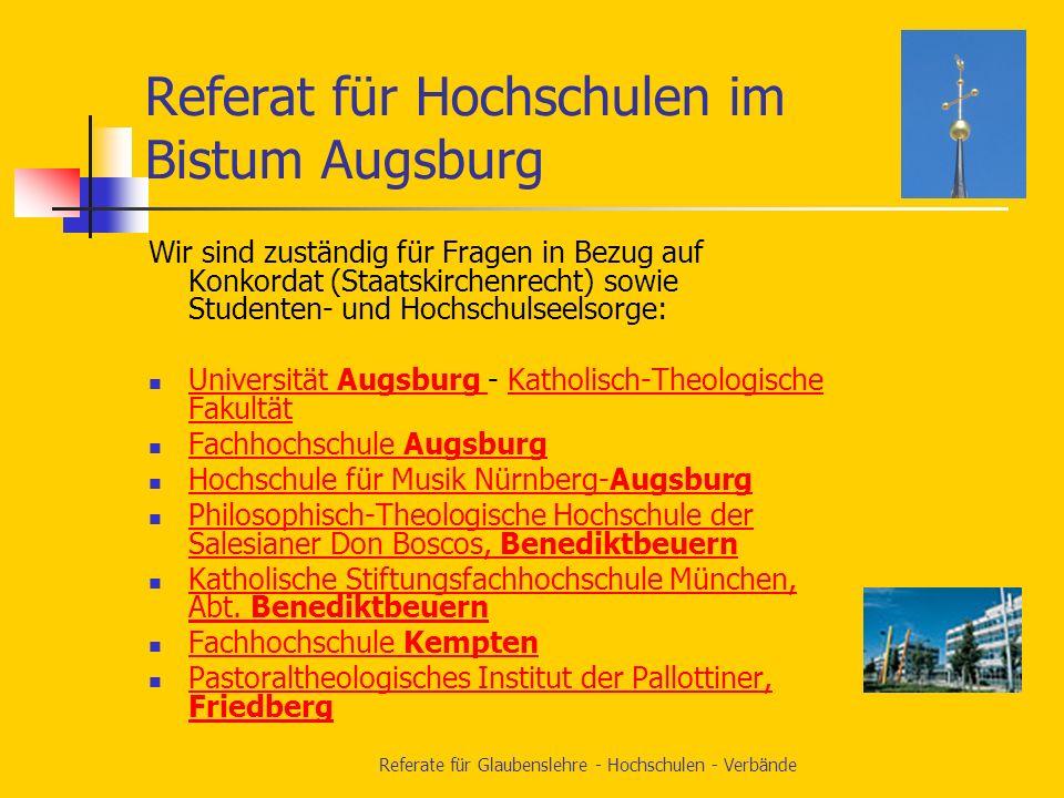 Referat für Hochschulen im Bistum Augsburg