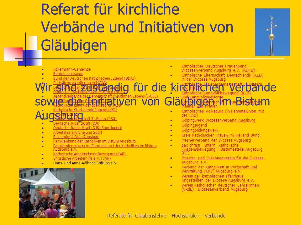Referat für kirchliche Verbände und Initiativen von Gläubigen