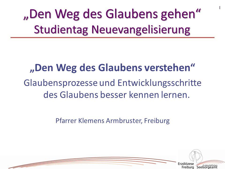 """""""Den Weg des Glaubens gehen Studientag Neuevangelisierung"""