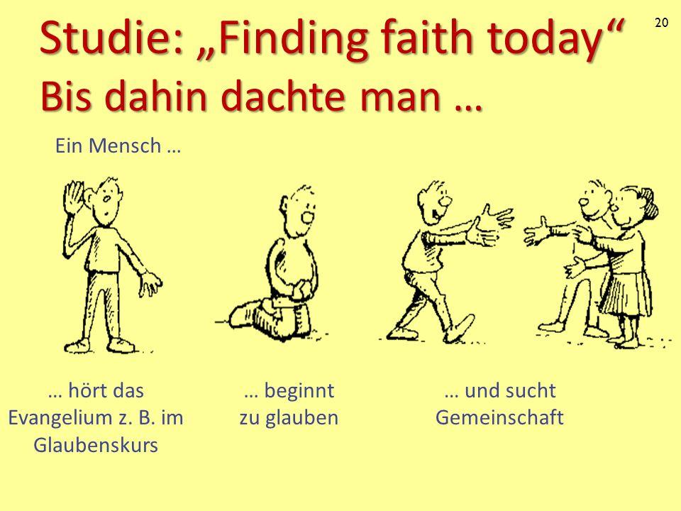 "Studie: ""Finding faith today Bis dahin dachte man …"