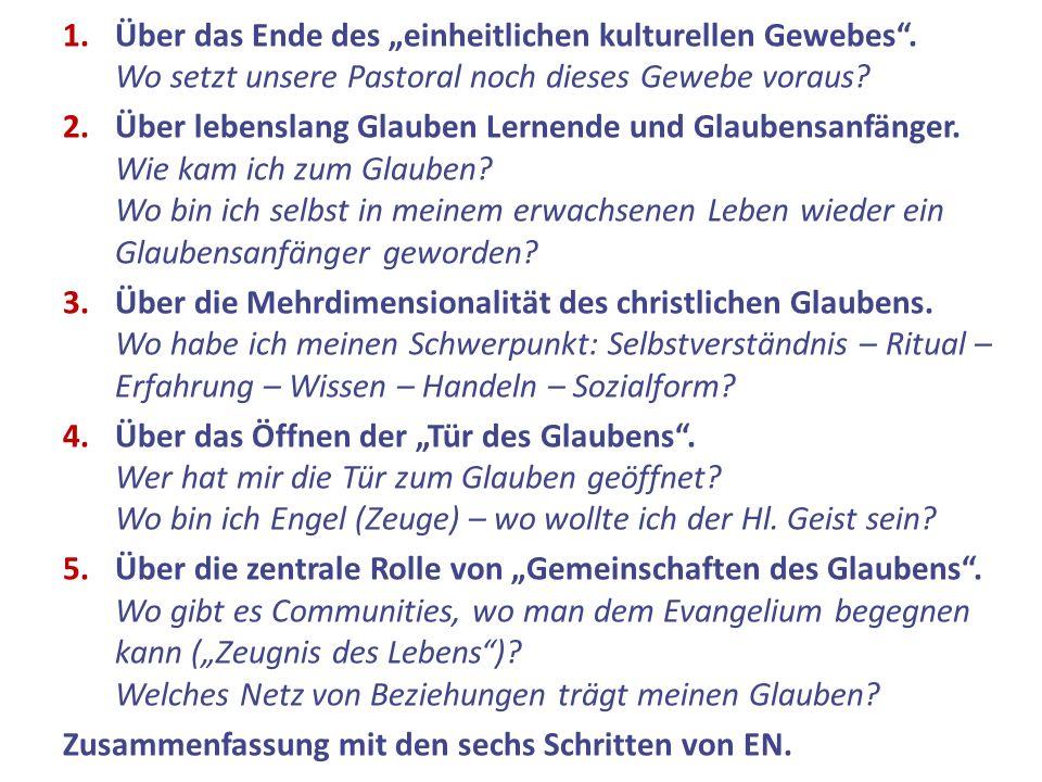 """Über das Ende des """"einheitlichen kulturellen Gewebes ."""