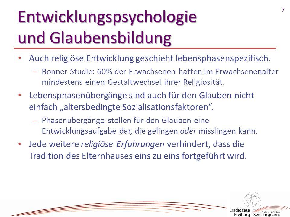 Entwicklungspsychologie und Glaubensbildung