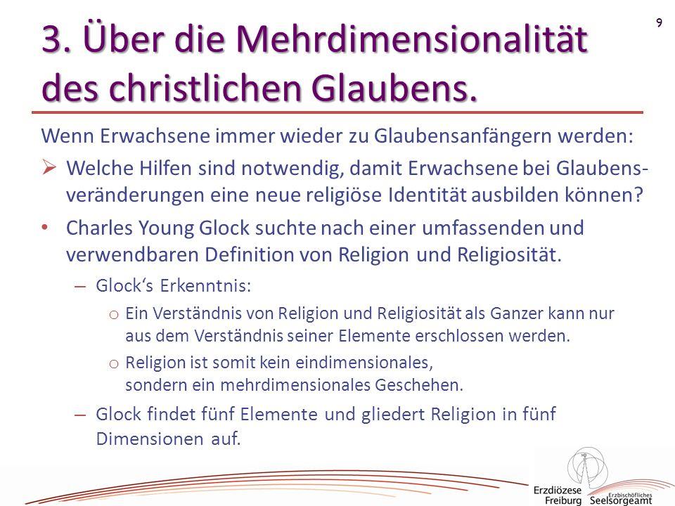 3. Über die Mehrdimensionalität des christlichen Glaubens.