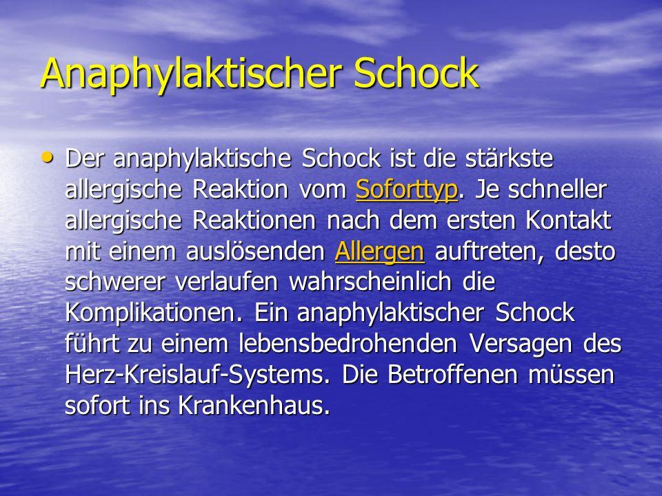 Anaphylaktischer Schock