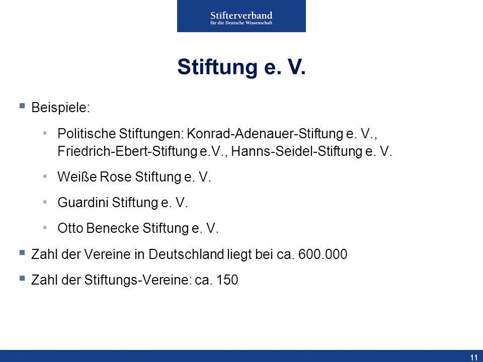 Stiftung e. V. Beispiele: