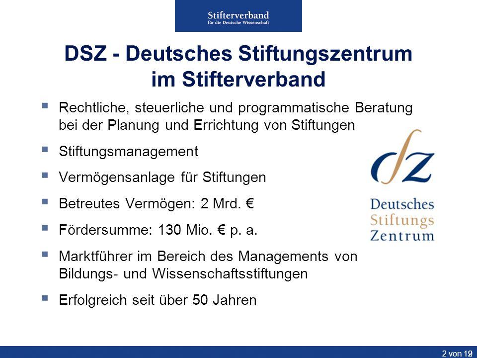 DSZ - Deutsches Stiftungszentrum im Stifterverband