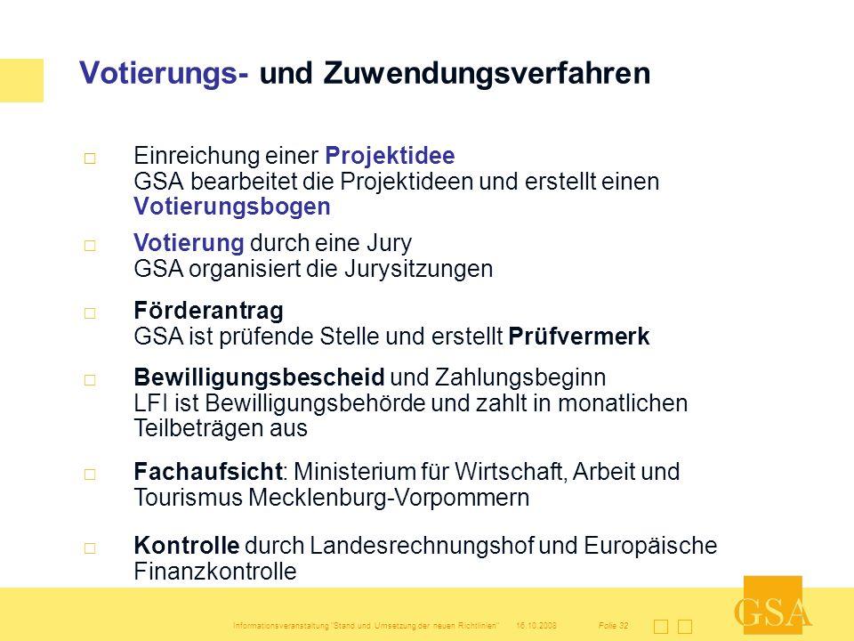 Votierungs- und Zuwendungsverfahren
