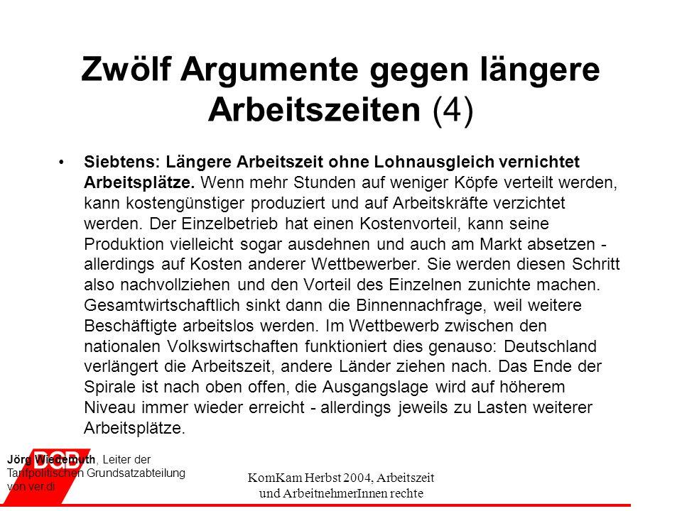 Zwölf Argumente gegen längere Arbeitszeiten (4)