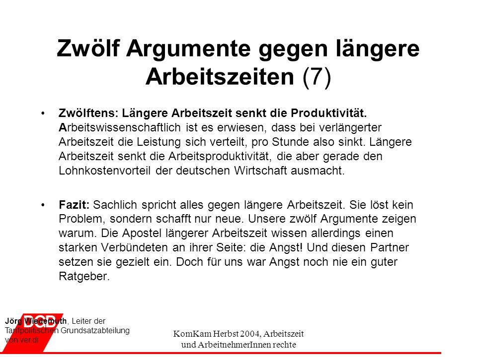 Zwölf Argumente gegen längere Arbeitszeiten (7)