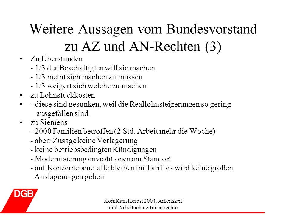 Weitere Aussagen vom Bundesvorstand zu AZ und AN-Rechten (3)