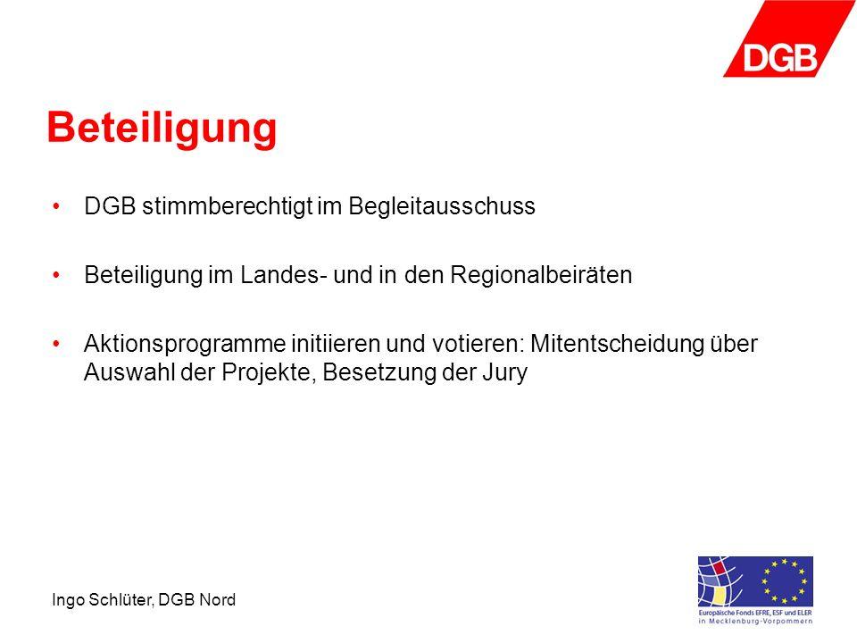 Beteiligung DGB stimmberechtigt im Begleitausschuss