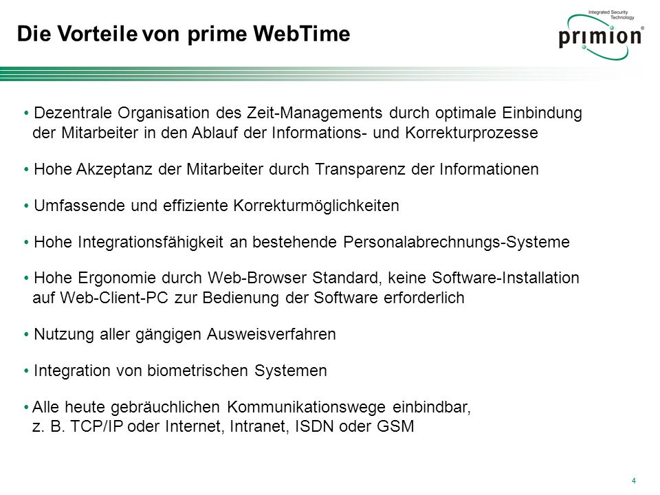 Die Vorteile von prime WebTime