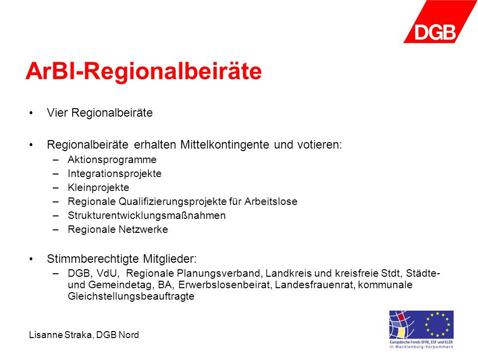 ArBI-Regionalbeiräte