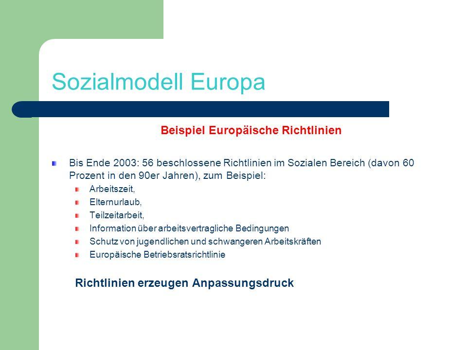 Beispiel Europäische Richtlinien