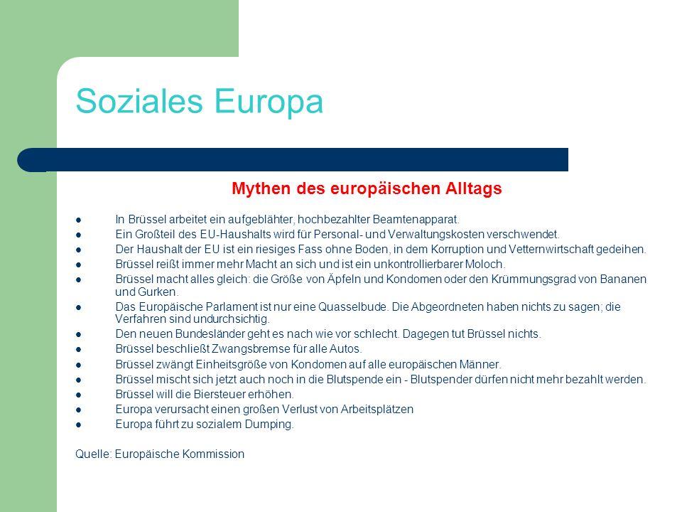 Mythen des europäischen Alltags